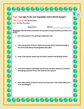 Current Events Science: Can Ugly Fruits and Vegetables Solve World Hunger?