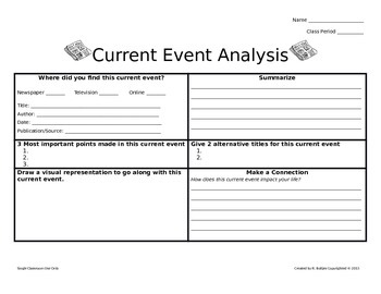 Current Event Graphic Organizer 1