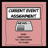 Current Event Graphic Organizer, Opinion v. Fact questions