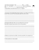 Current Event News Article Review and Critical Thinking Analysis Form