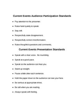 Current Event Presentations