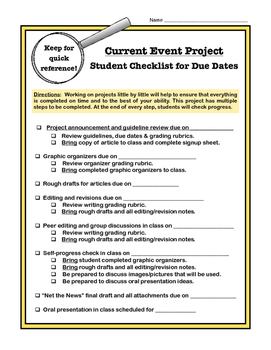 Current Event Activities for Any Subject or Topic