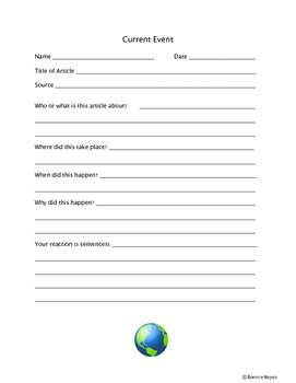 Current Event Response form
