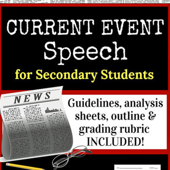 Current Event Speech, Secondary Ed.