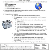 Current Event Summary Response and Rubric/Assessment