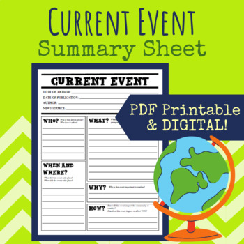 Current Event Summary Worksheet