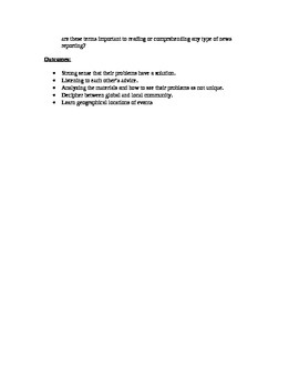 Current Event Summary and Analysis Report form worksheet