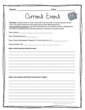 Current Event Template
