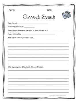 It's just a picture of Refreshing Current Events Worksheet Printable