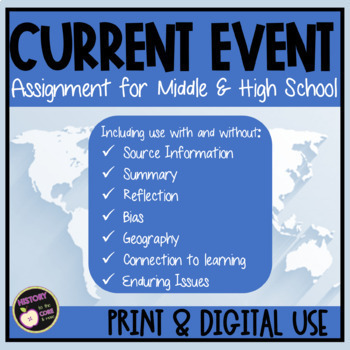 Current Event Templates/ Forms for High School