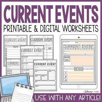 Current Events Templates (Printable & Digital)