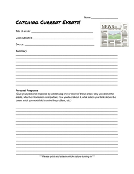 Current Event Worksheet