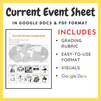 Current Event Worksheet in Google Docs