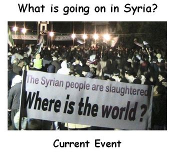 Current Event on Syria with Comprehension Questions