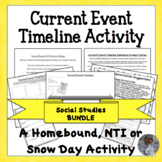 Current Events Distance Learning Activity Bundle for Homeb