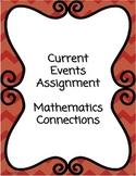 Current Events Assignment Description - Mathematics Connection