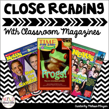 Close Reading Informational Text Templates