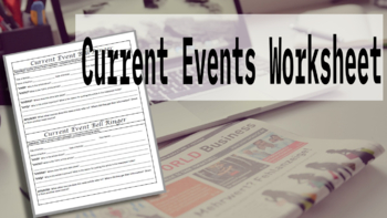 Current Events Bellringer or Assignment