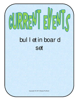 Current Events Bulletin Board Set