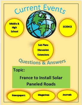 Current Events Science:France To Install Solar Paneled Roads