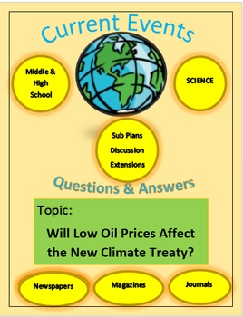 Current Events Science: Will Low Oil Prices Affect the New Climate Treaty?