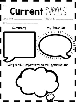 Current Events Comprehension For Any Text- NO PREP!