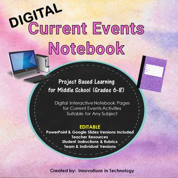 Current Events: Digital Interactive Notebook