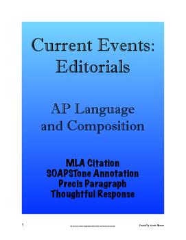 Current Events: Editorials - AP Lang and Comp