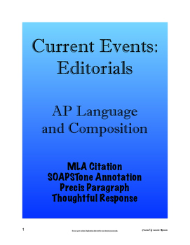 Current Events: Editorials - AP Lang and Comp; (AP Language & Composition)
