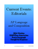 Current Events: Editorials - AP Lang and Composition