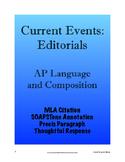 Current Events: Editorials - AP Lang and Comp; (AP Languag