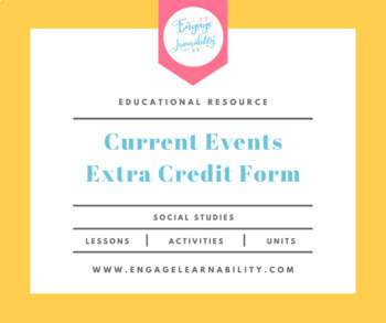Current Events Extra Credit Form