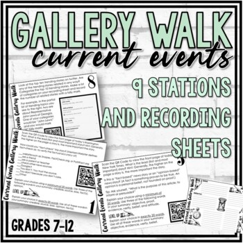 Current Events Gallery Walk (12 Stations)