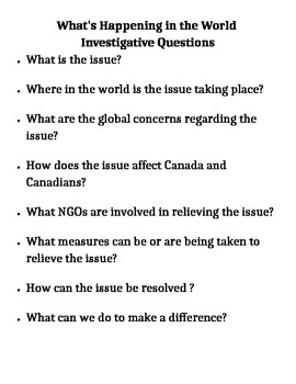 Current Events - Guiding Discussion Questions