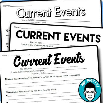 Current Events Handout Pack!