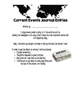 Current Events Journal Expectations