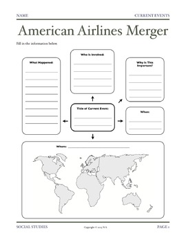 Current Events Lesson - American Airlines Merger