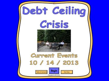 Current Events Lesson - Debt Ceiling Crisis 2013