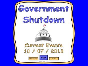 Current Events Lesson - Government Shutdown 2013