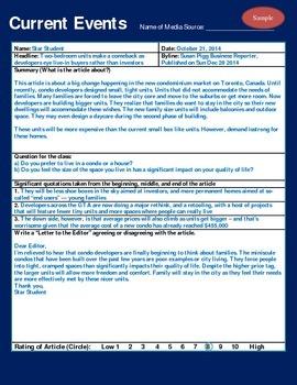 Current Events Media presentation assignment