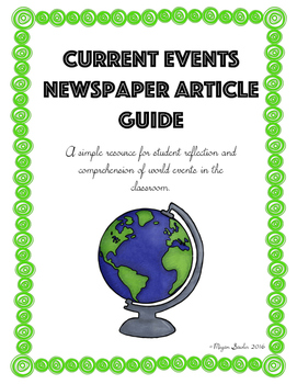 Current Events Newspaper Article Guide