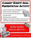 Year-Round Current Events Oral Presentations: Perfect for ELL, English & Socials