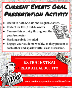 Year-Round Current Events Oral Presentations: Perfect for