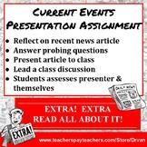 Current Events Oral Presentation: Worksheets, Rubric, & Student Self-Assessment