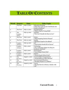 Current Events Program