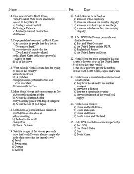Current Events Quiz