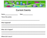 Current Events Report Form/Outline