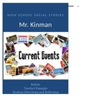 Current Events  Rubric, Directions, Example, and Student R