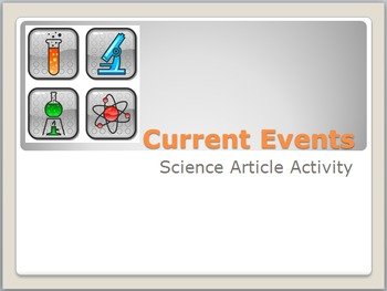 Current Events: Science Article Analysis Activity