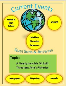 Science Current Events: Oil Spill In January 2018 Threatens Asia's Fisheries